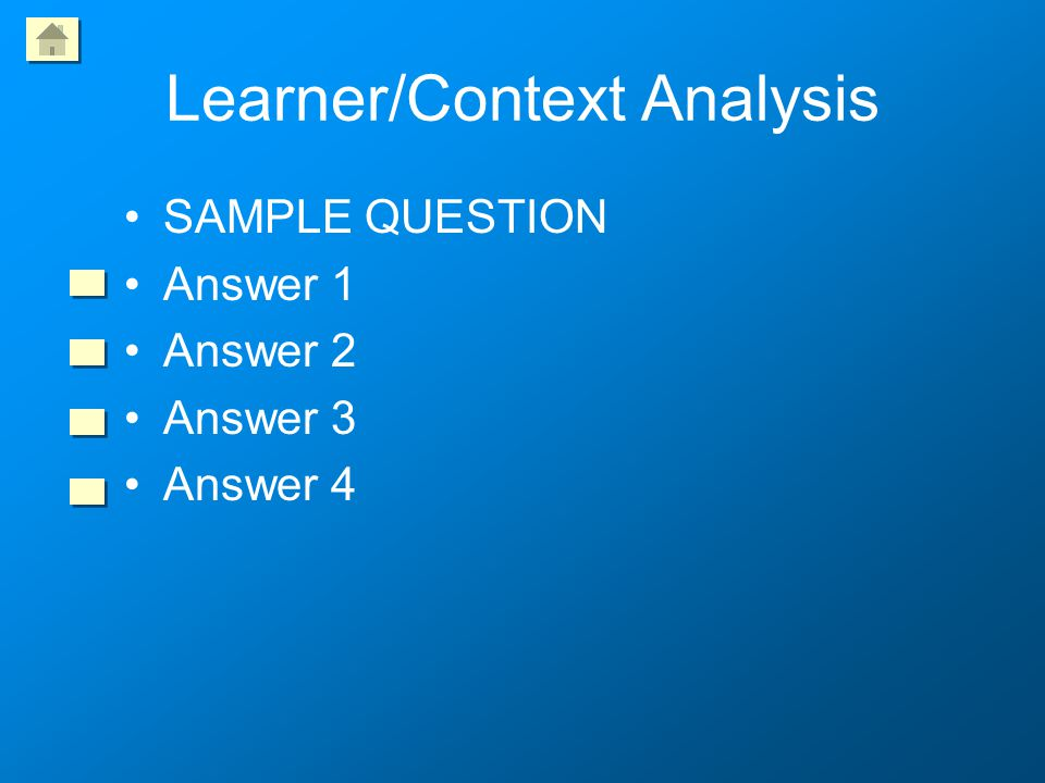 Learner/Context Analysis