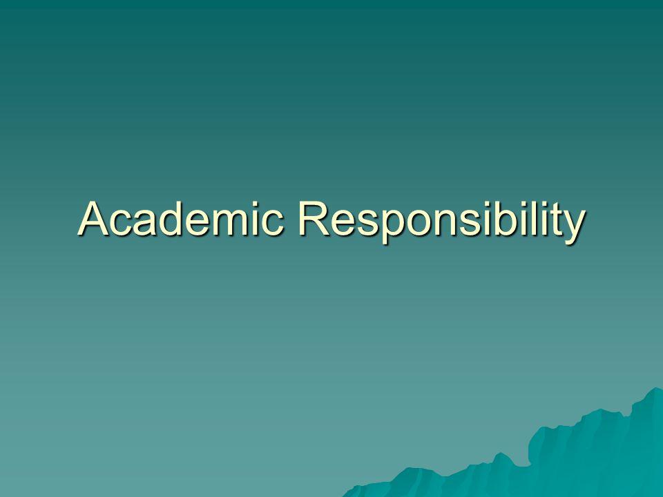 Academic Responsibility