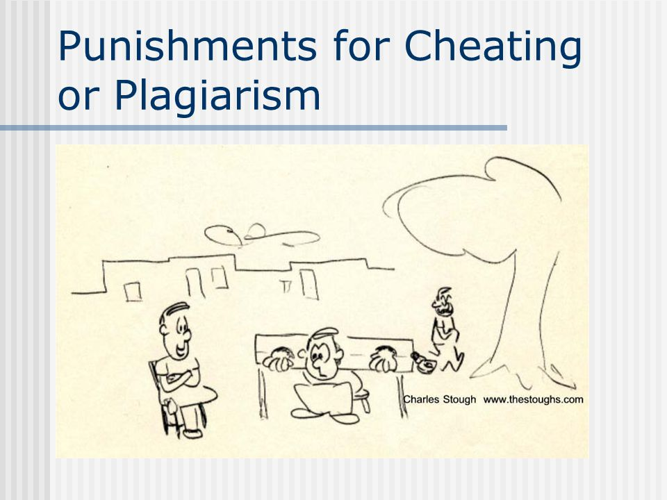 Punishments for Cheating or Plagiarism