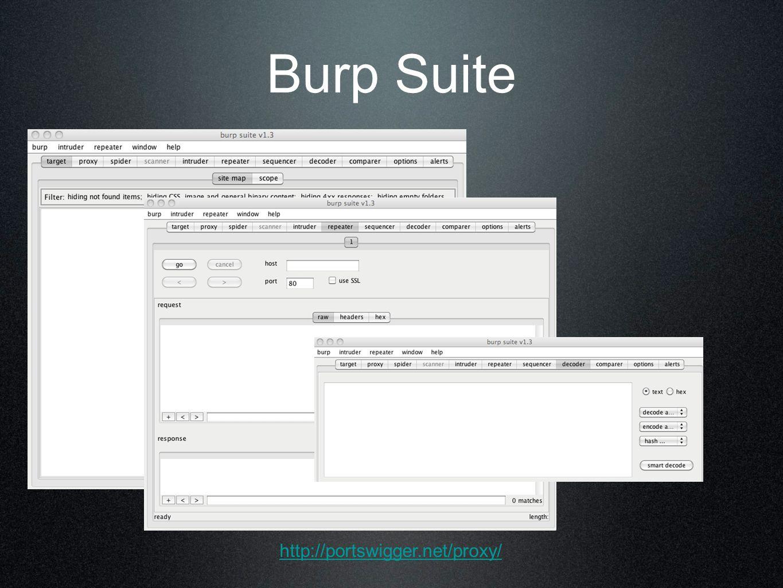 Burp Suite http://portswigger.net/proxy/