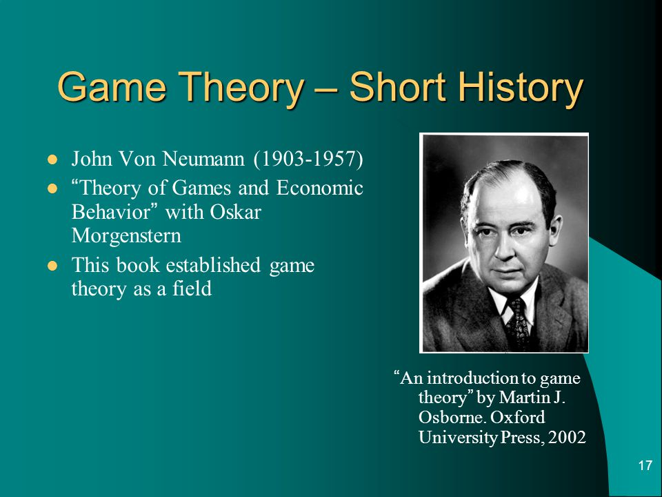 Game Theory – Short History