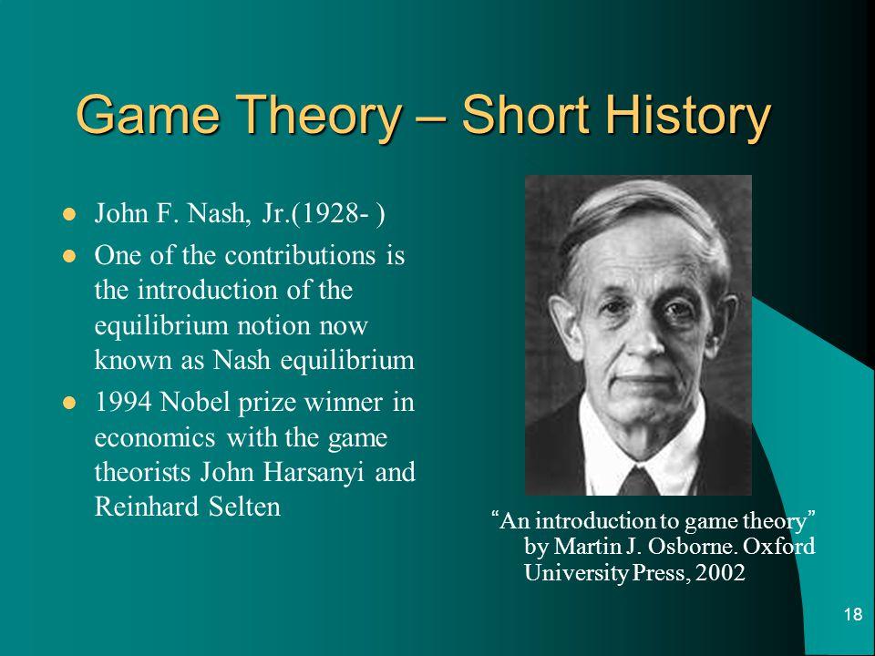 Game Theory – Short History