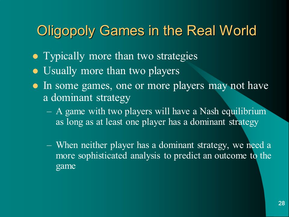 Oligopoly Games in the Real World