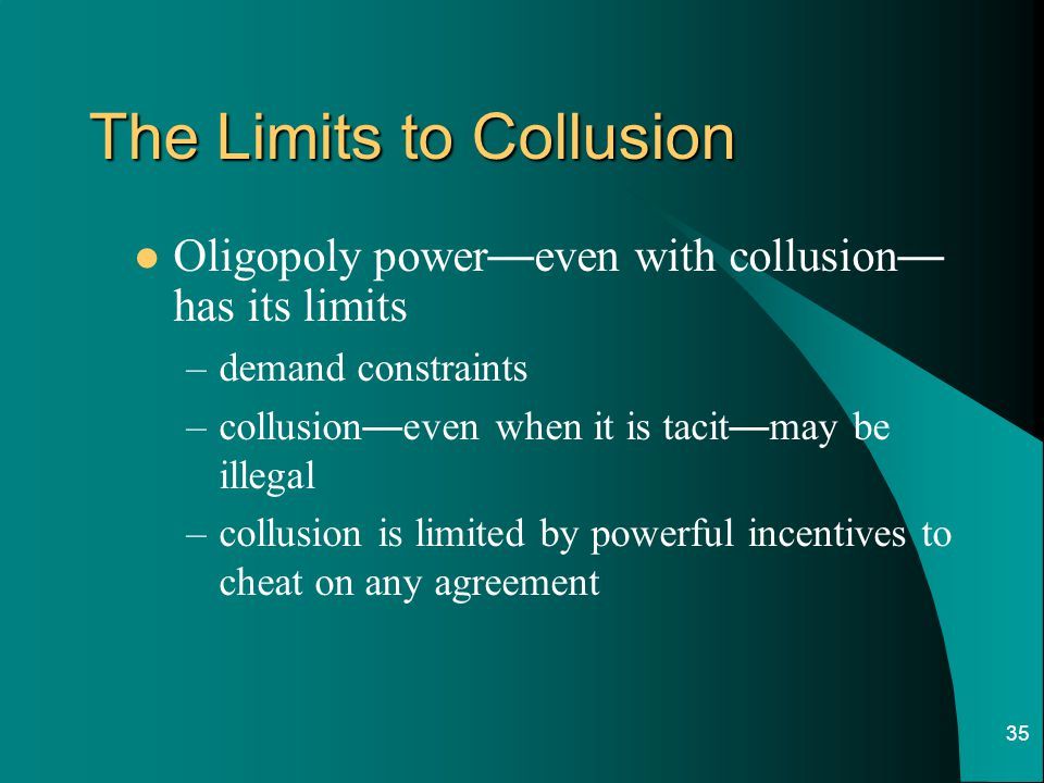 The Limits to Collusion
