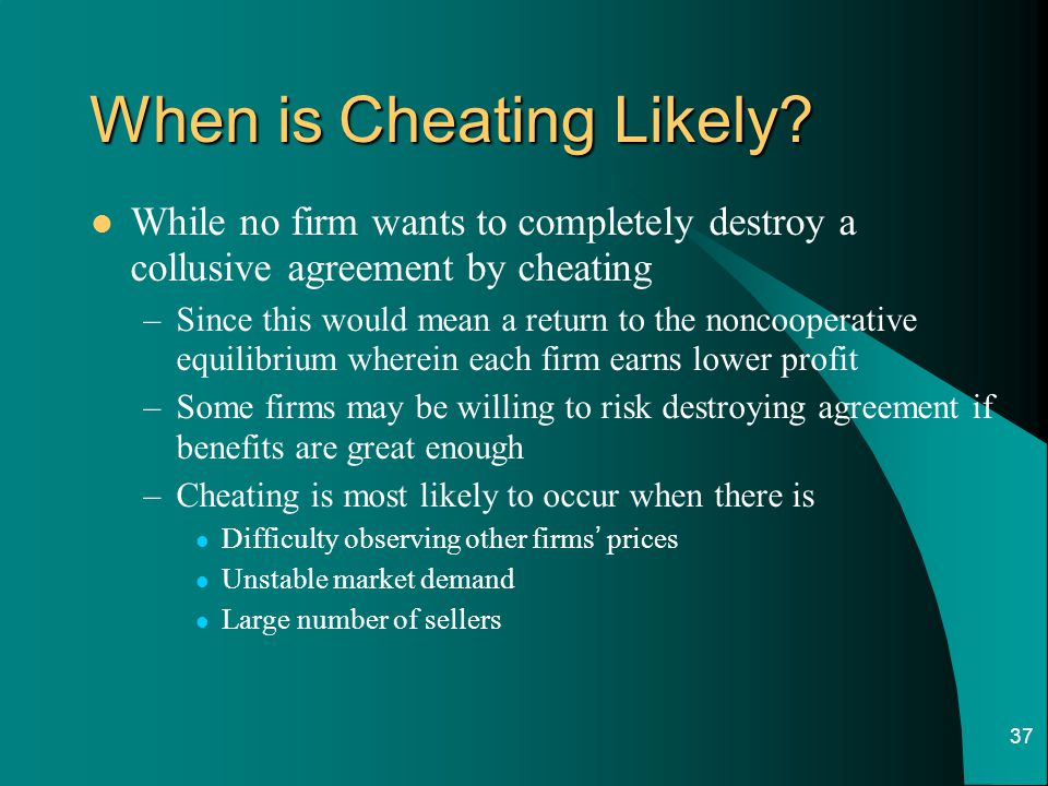 When is Cheating Likely