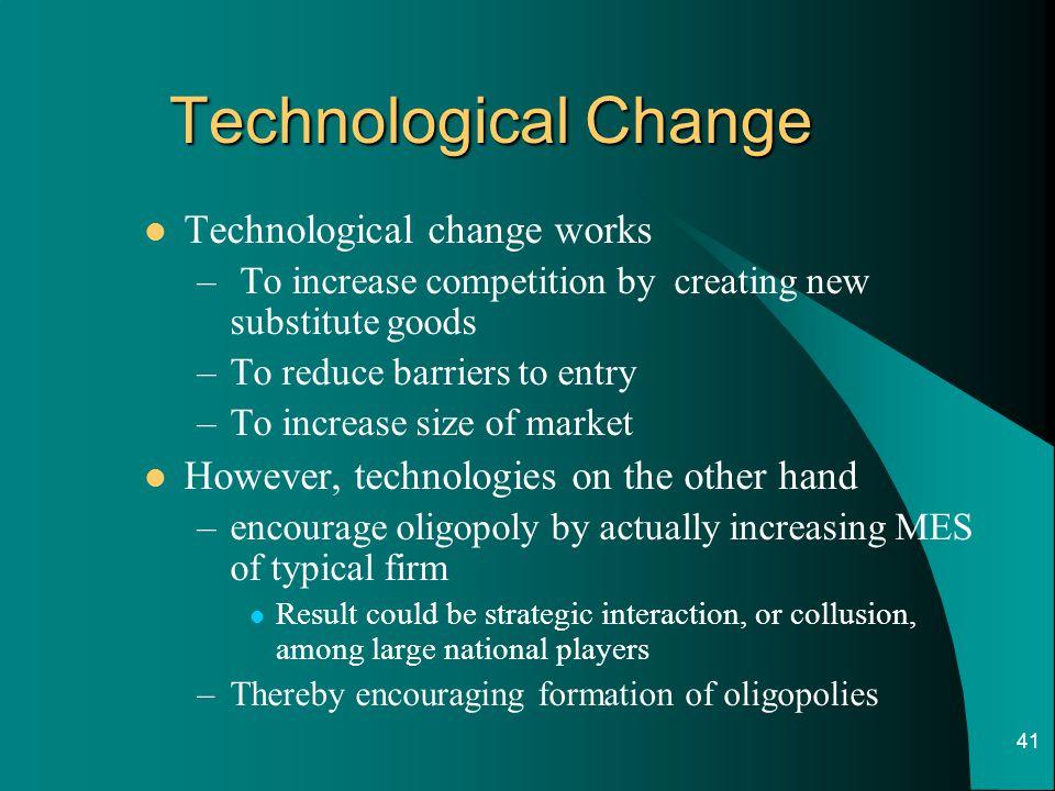 Technological Change Technological change works