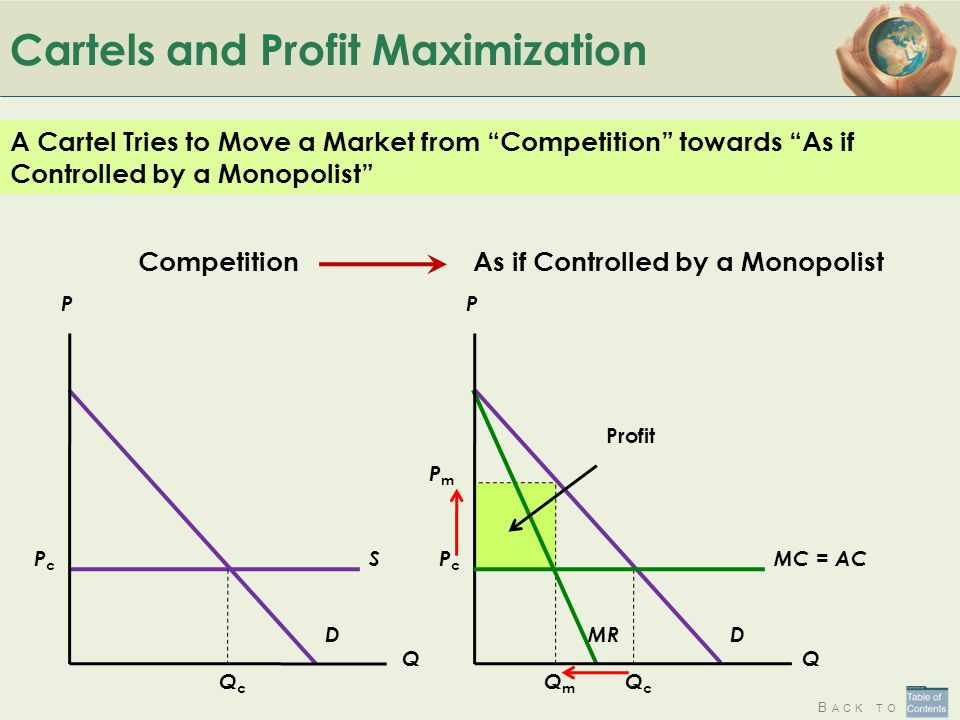 Cartels and Profit Maximization