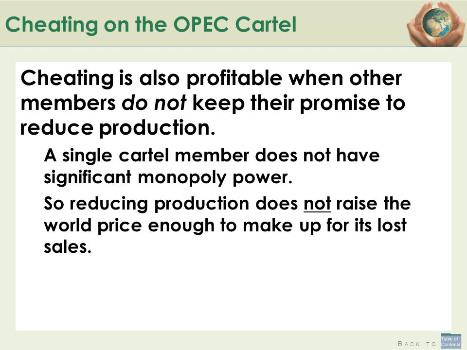Cheating on the OPEC Cartel