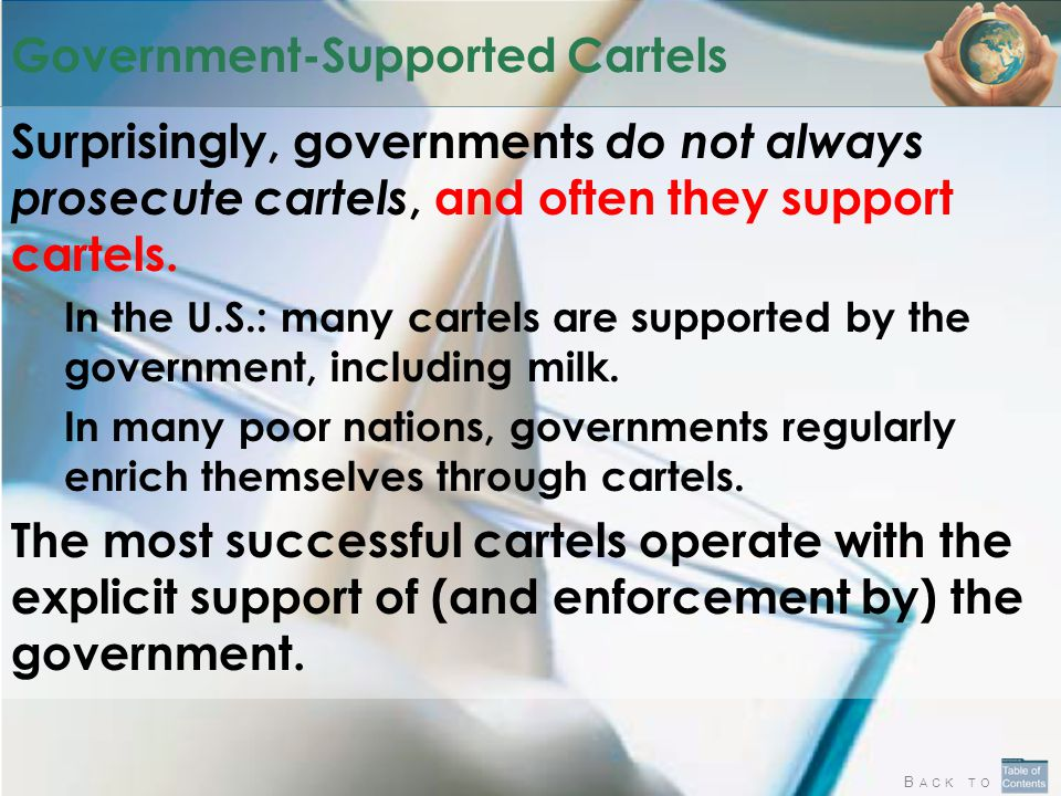 Government-Supported Cartels