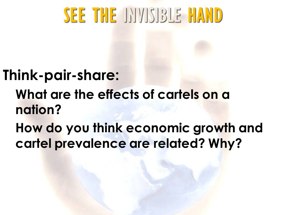 Think-pair-share: What are the effects of cartels on a nation