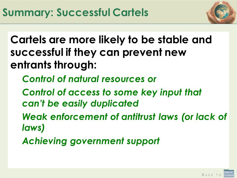 Summary: Successful Cartels