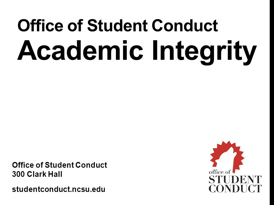 Office of Student Conduct Academic Integrity
