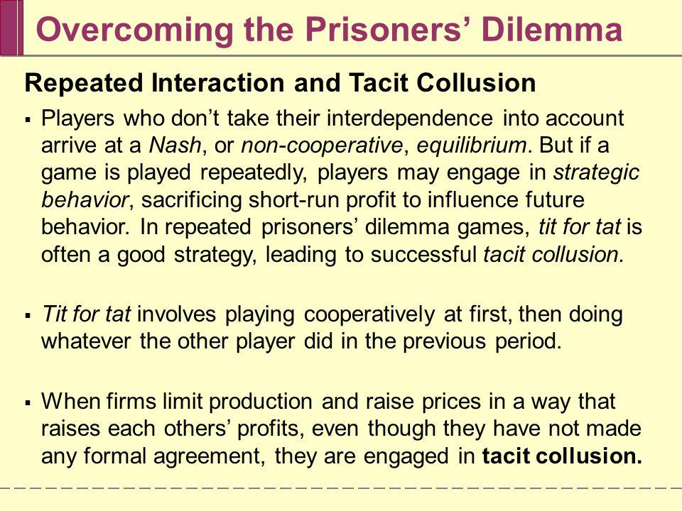 Overcoming the Prisoners' Dilemma