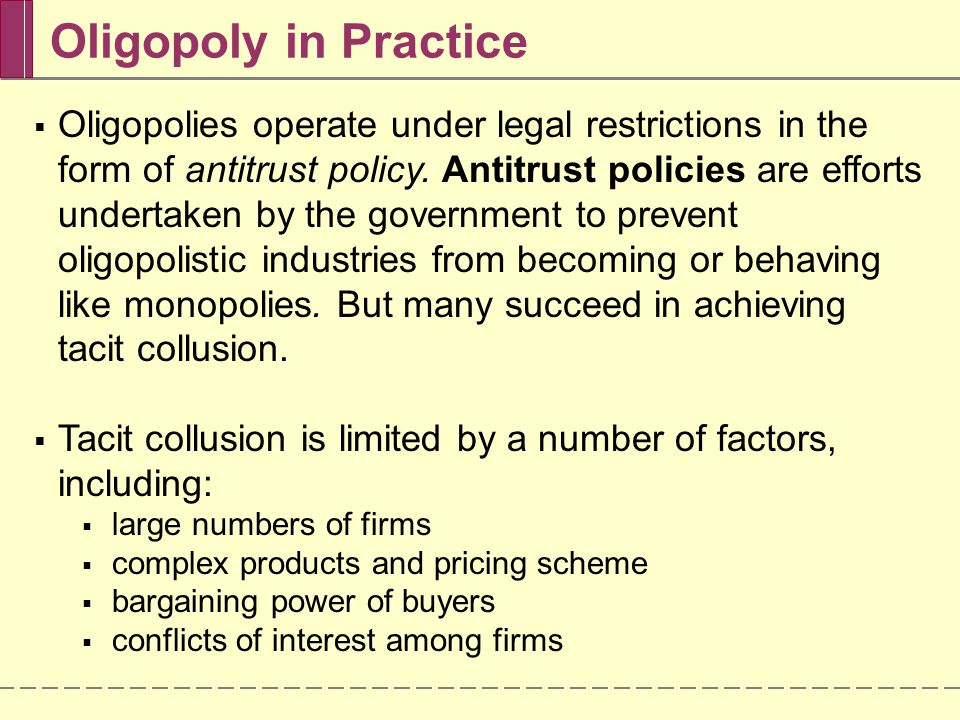 Oligopoly in Practice