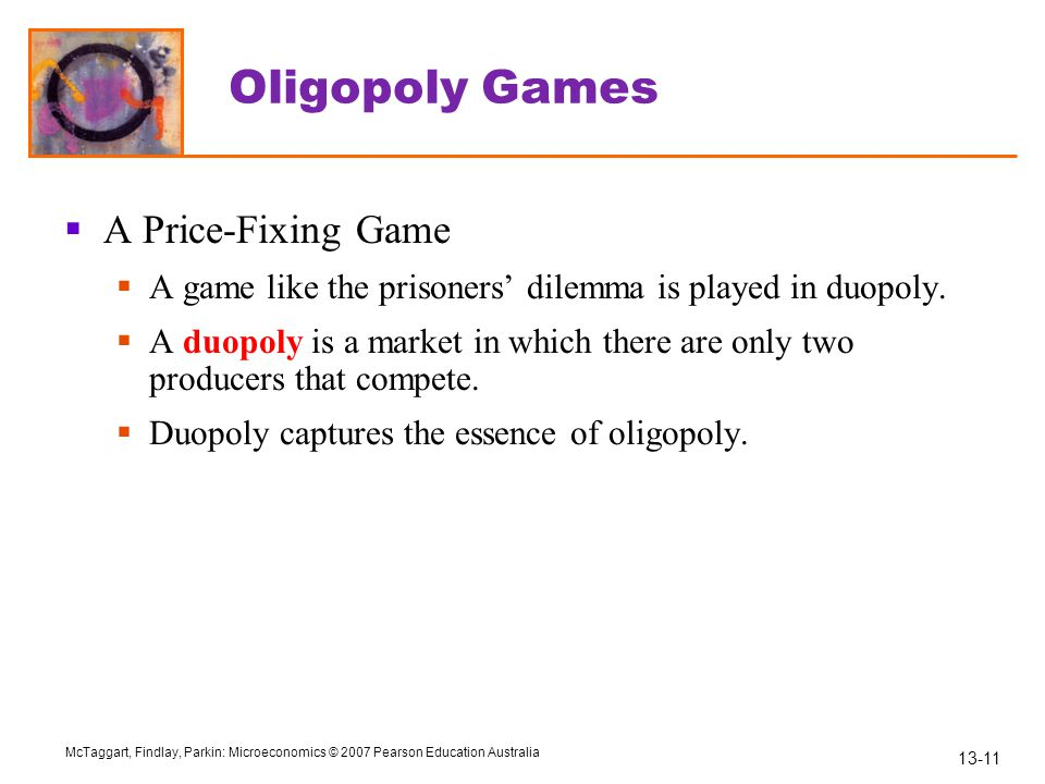 Oligopoly Games A Price-Fixing Game