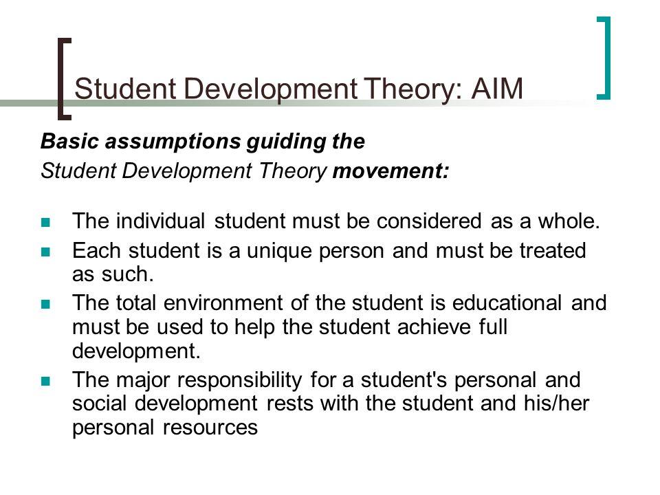 Student Development Theory: AIM