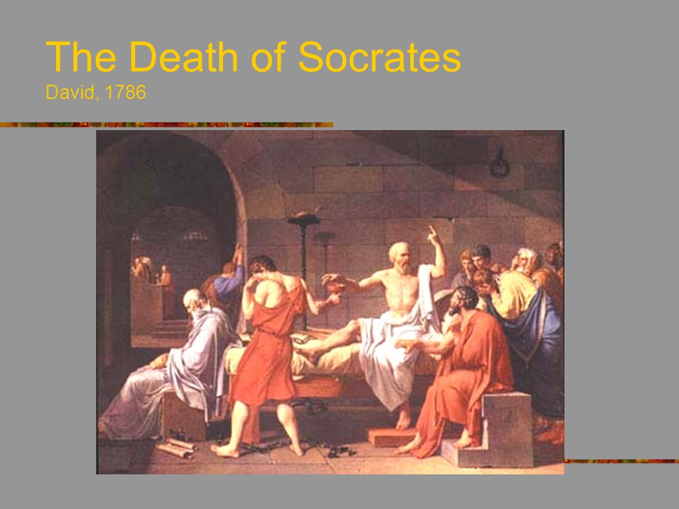 The Death of Socrates David, 1786