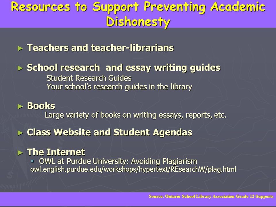 Resources to Support Preventing Academic Dishonesty