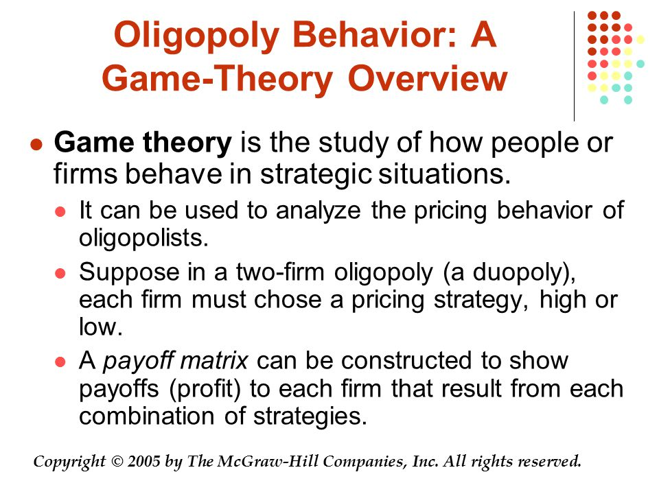 Oligopoly Behavior: A Game-Theory Overview