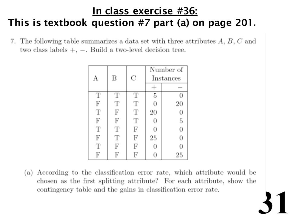 In class exercise #36: This is textbook question #7 part (a) on page 201.
