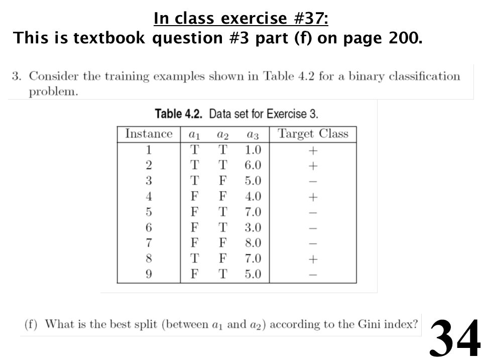 In class exercise #37: This is textbook question #3 part (f) on page 200.