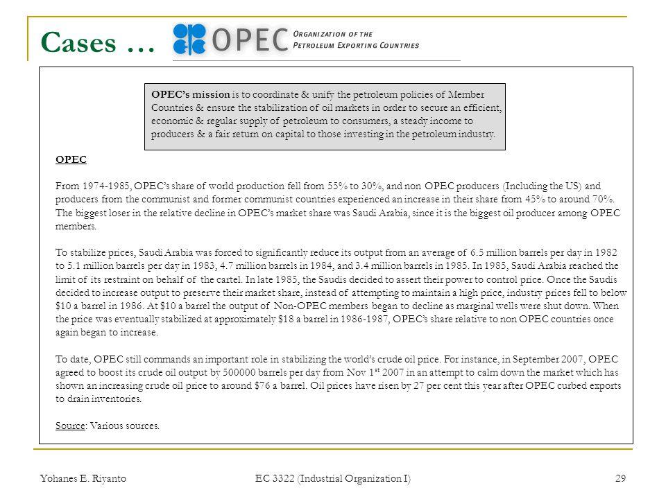 EC 3322 (Industrial Organization I)