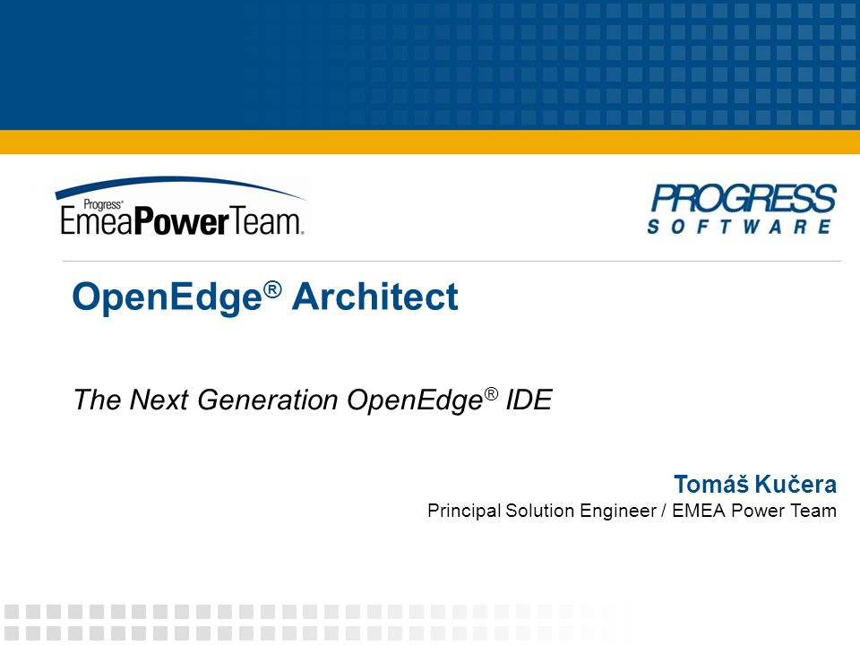 The Next Generation OpenEdge® IDE
