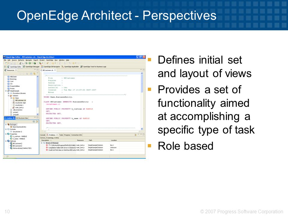 OpenEdge Architect - Perspectives