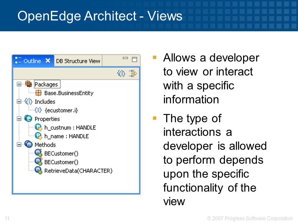 OpenEdge Architect - Views