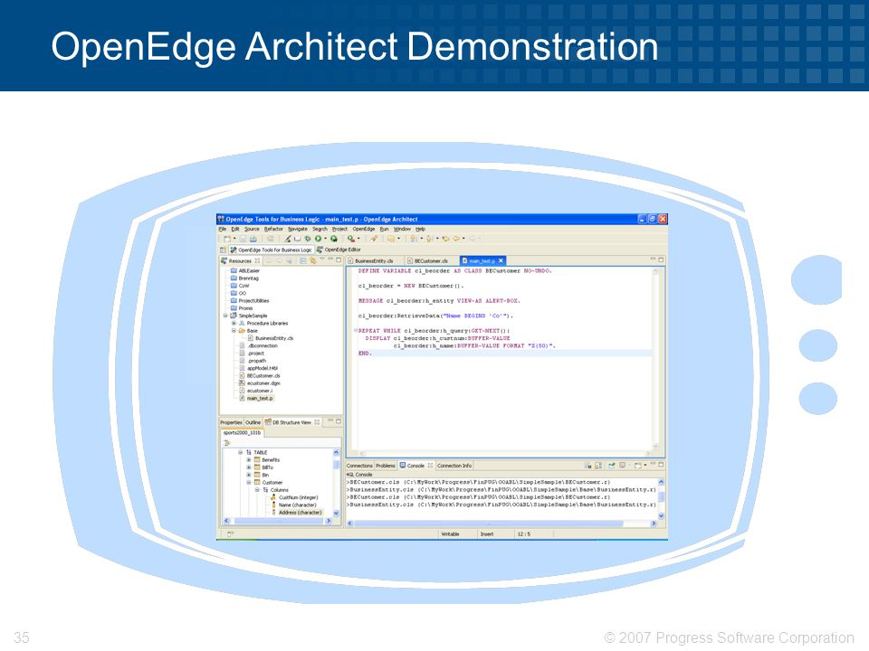 OpenEdge Architect Demonstration