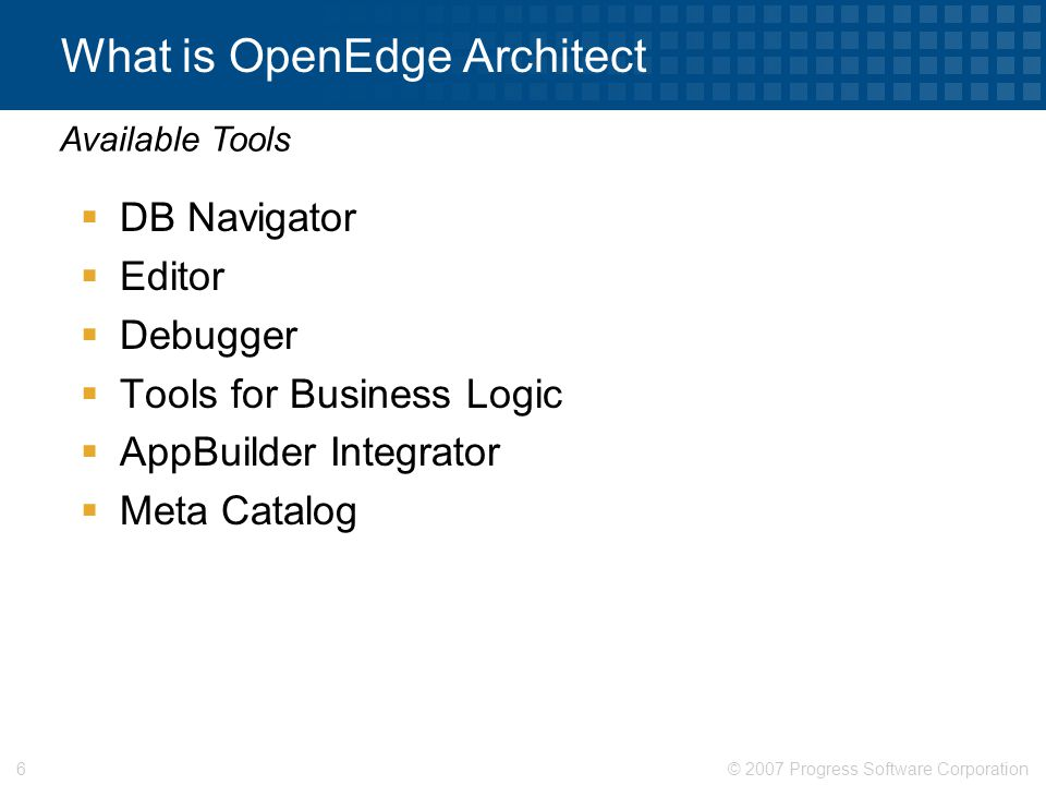What is OpenEdge Architect