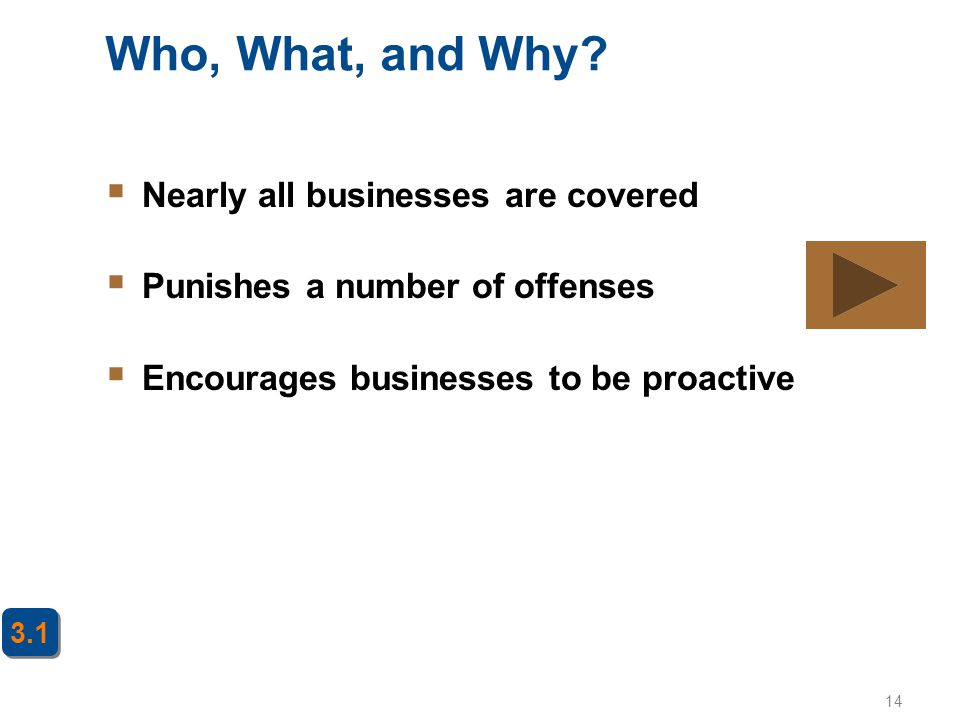 Who, What, and Why Nearly all businesses are covered