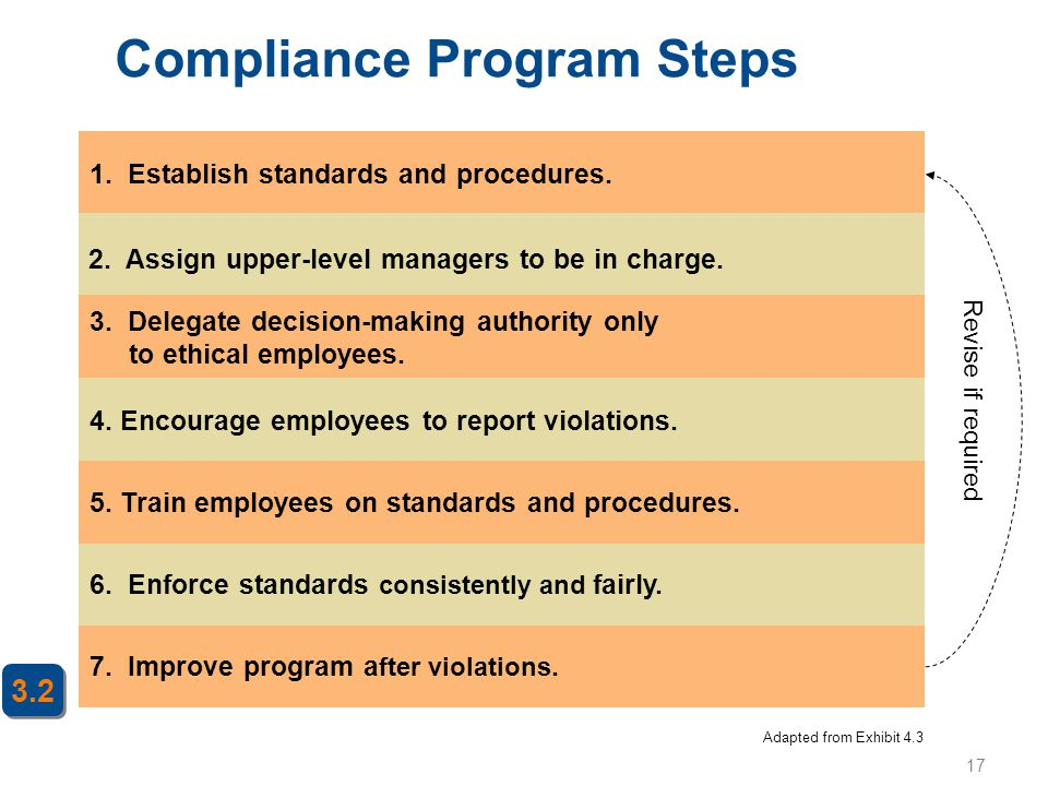 Compliance Program Steps