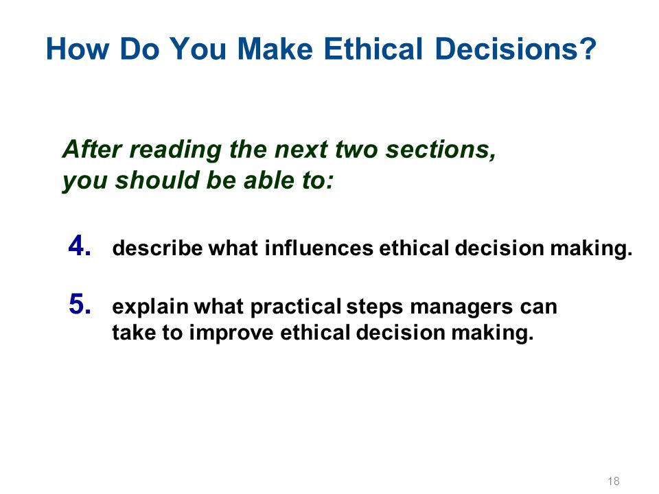 How Do You Make Ethical Decisions