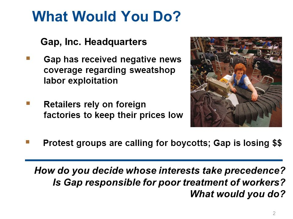What Would You Do Gap, Inc. Headquarters