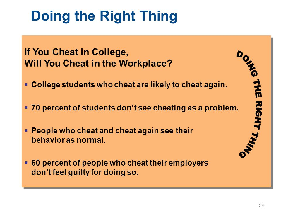 Doing the Right Thing If You Cheat in College,