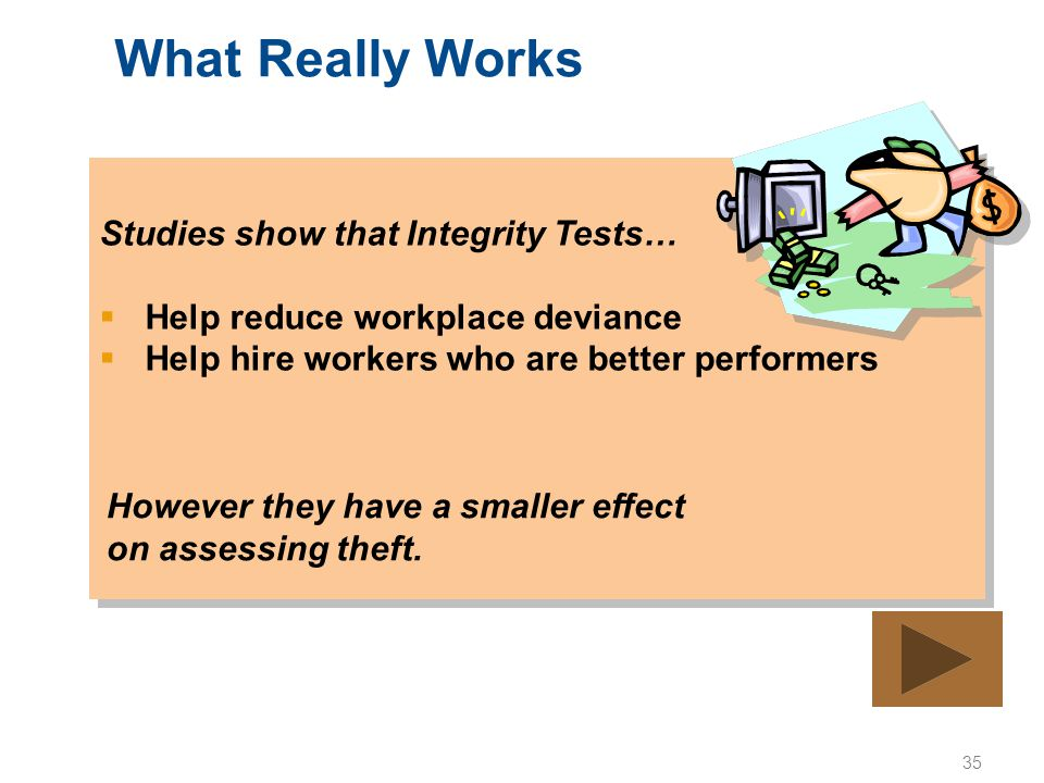 What Really Works Studies show that Integrity Tests…