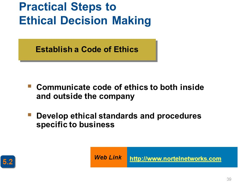 Practical Steps to Ethical Decision Making