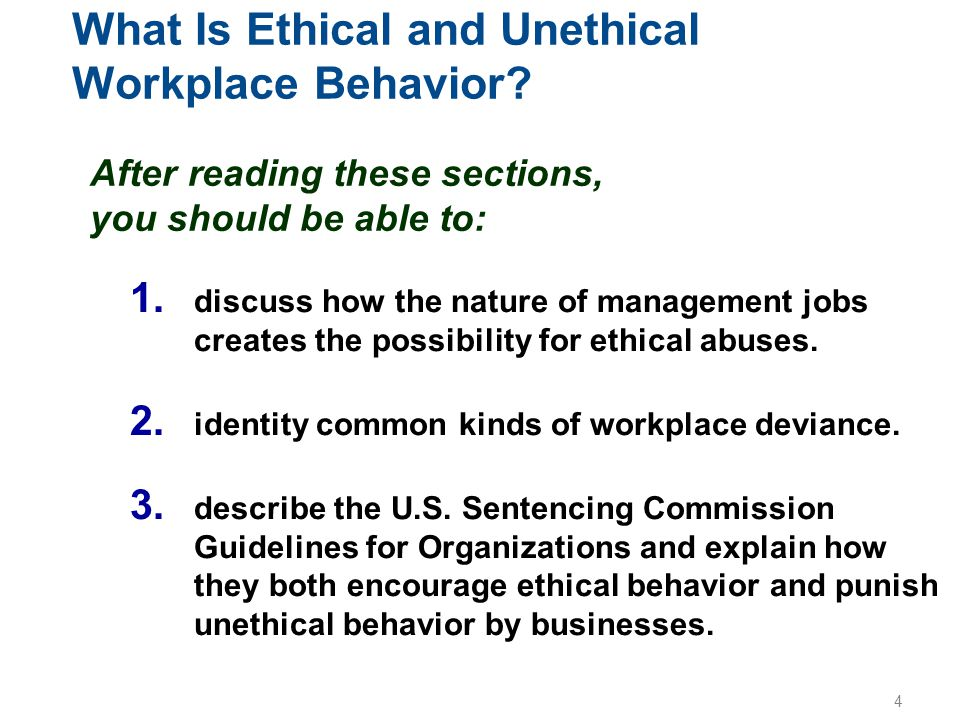 What Is Ethical and Unethical Workplace Behavior