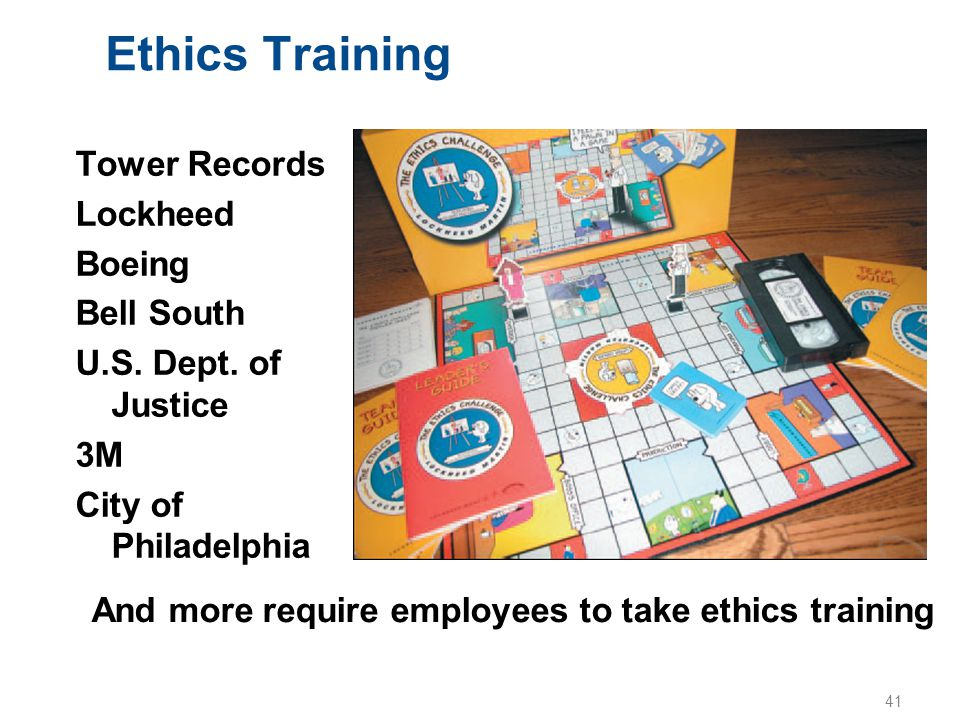 Ethics Training Tower Records Lockheed Boeing Bell South