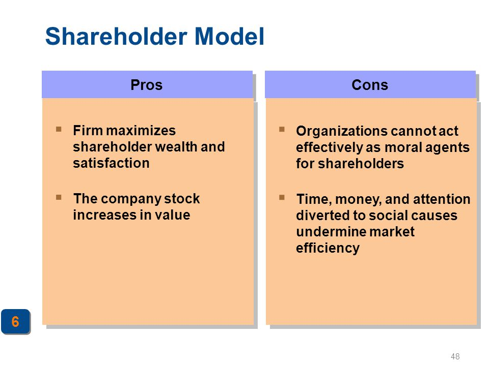 Shareholder Model Pros Cons 6