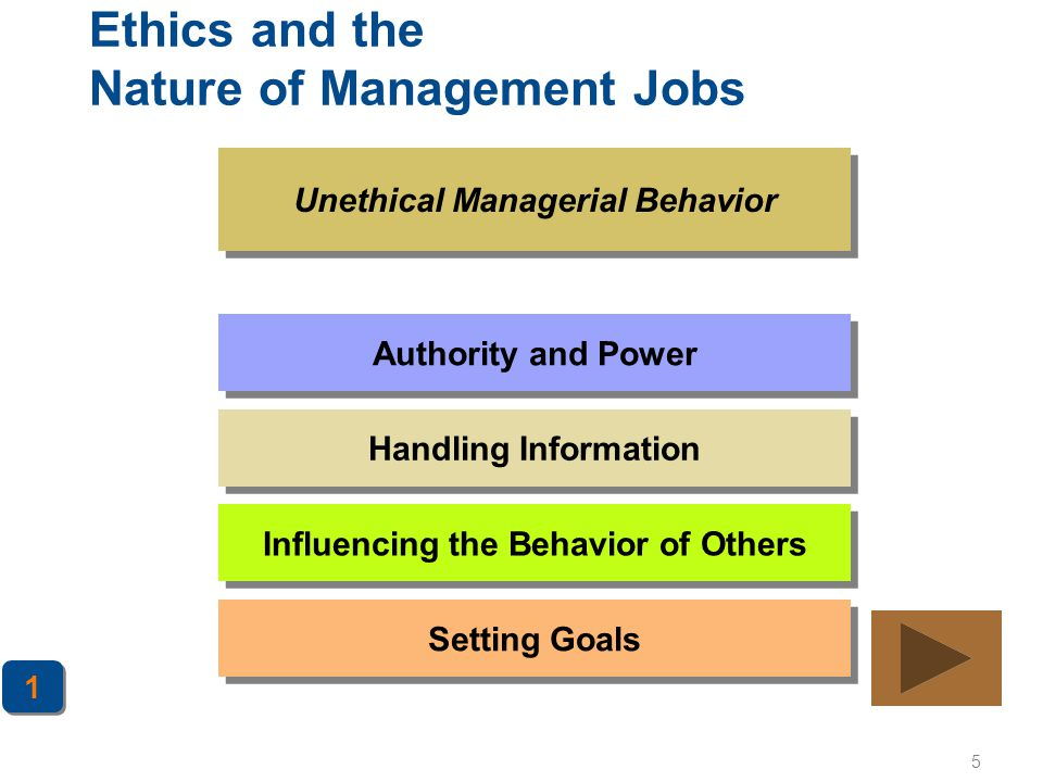 Ethics and the Nature of Management Jobs