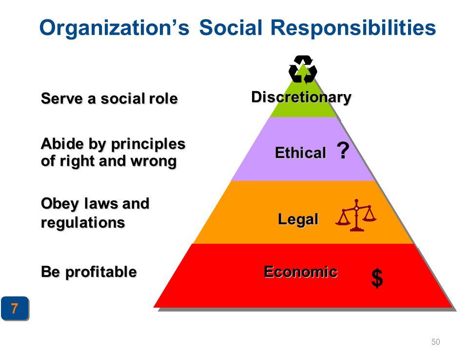 Organization's Social Responsibilities
