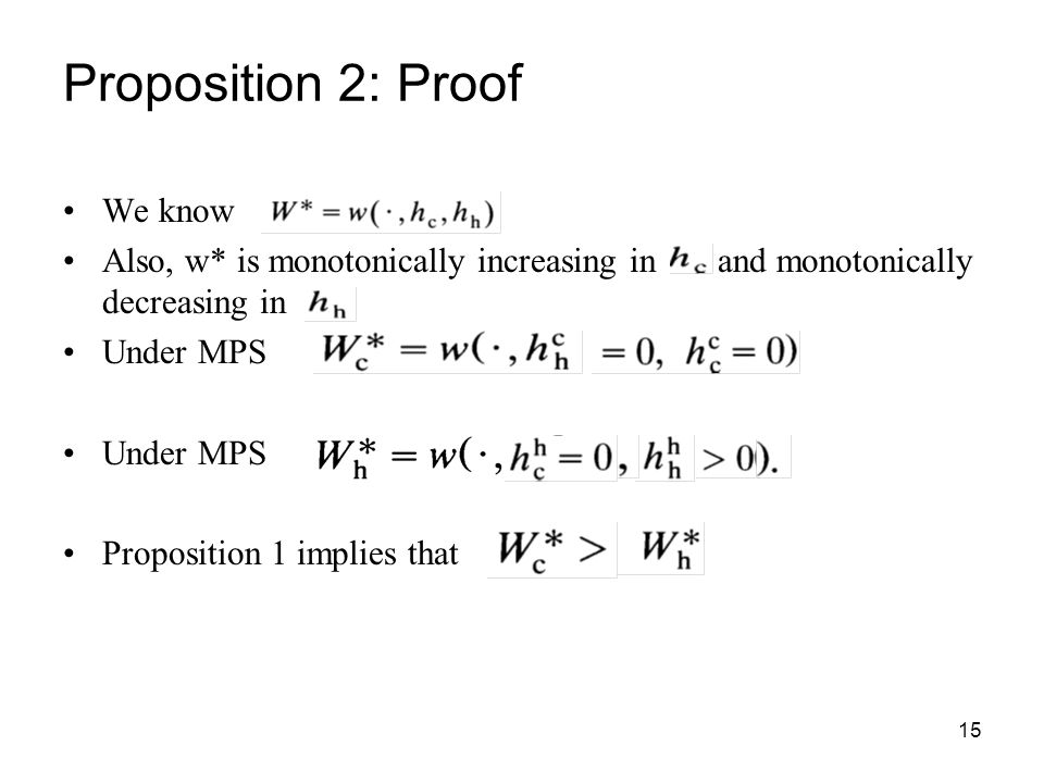 Proposition 2: Proof We know