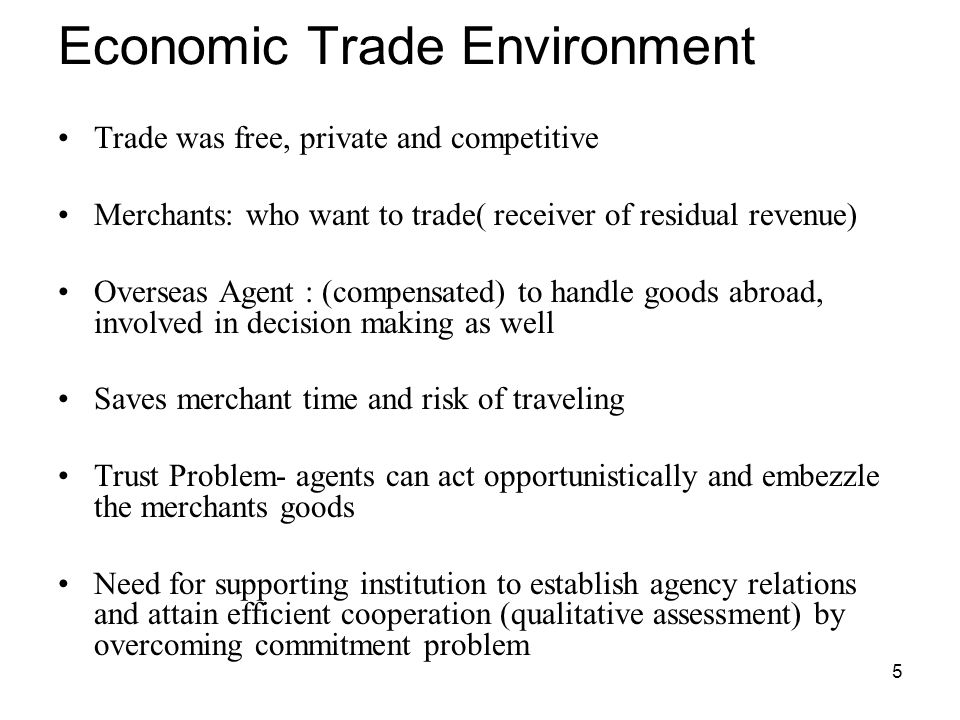 Economic Trade Environment