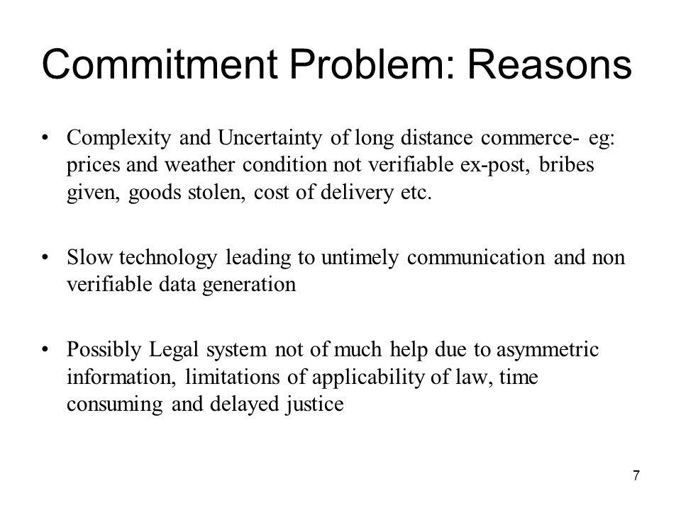 Commitment Problem: Reasons