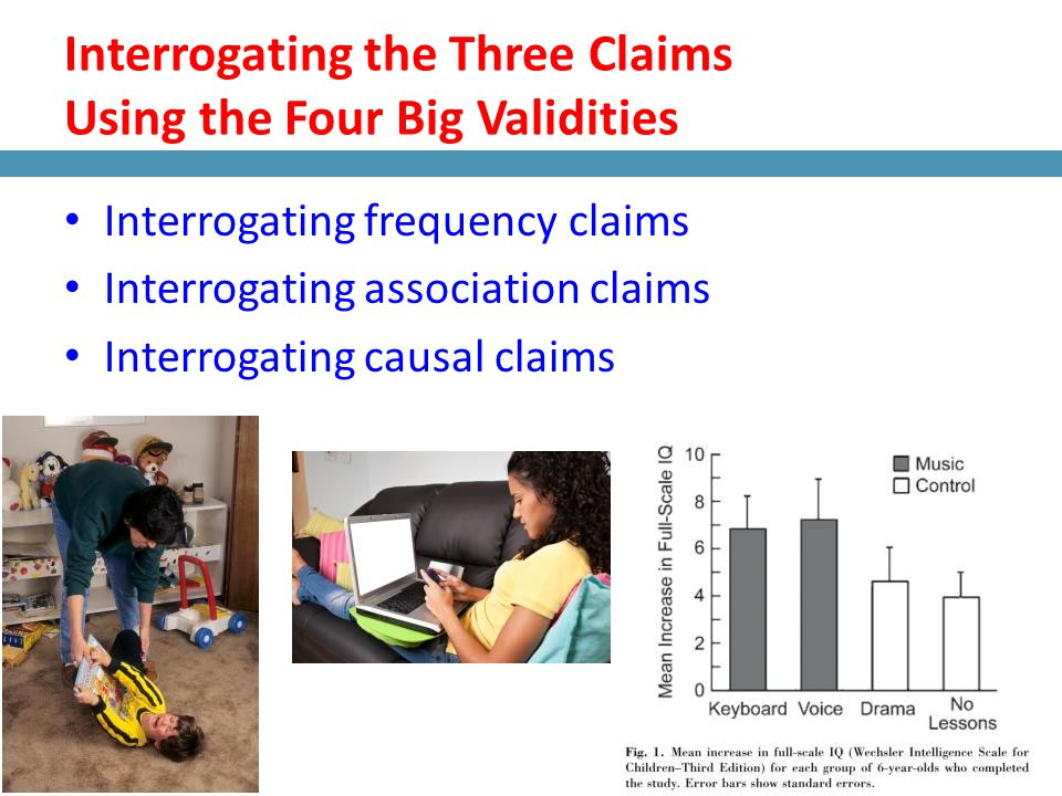 Interrogating the Three Claims Using the Four Big Validities