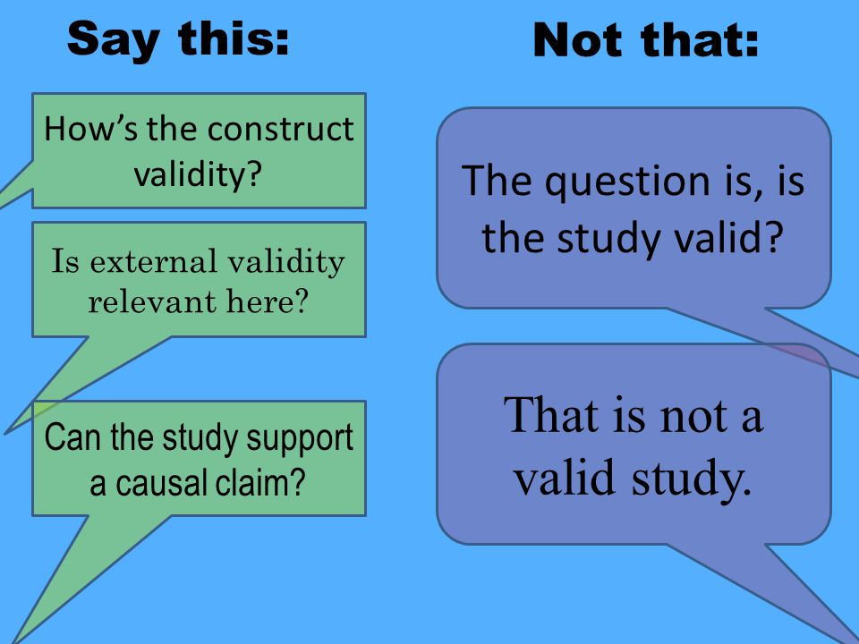 That is not a valid study.