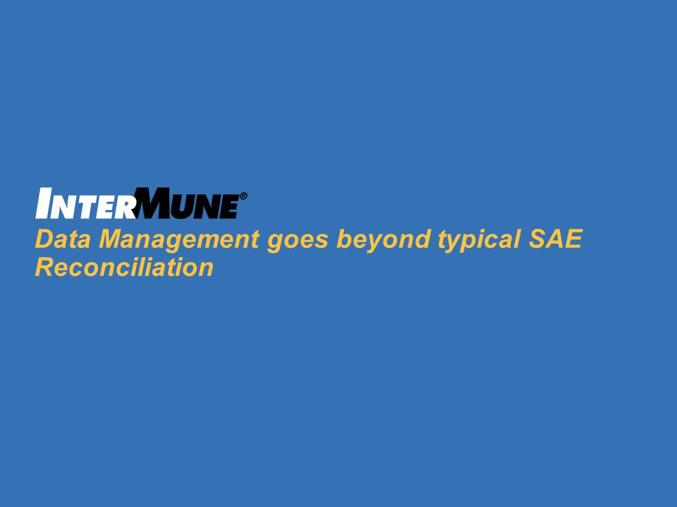Data Management goes beyond typical SAE Reconciliation