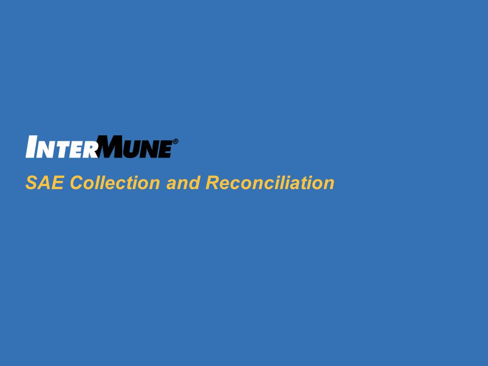 SAE Collection and Reconciliation
